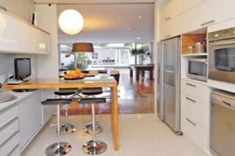 cozinha integrada iluminação